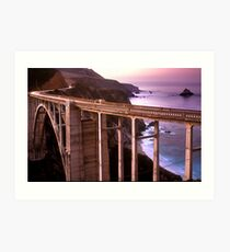 Bixby Bridge Art Print