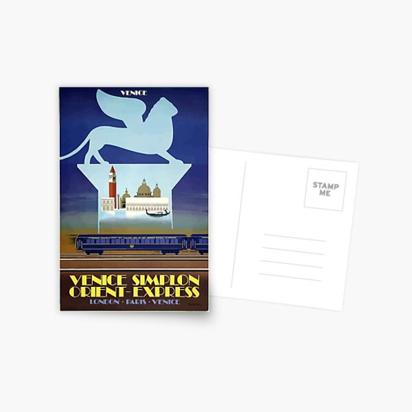 Venice Simplon Orient Express Set of Writing Paper In Presentation Wallet With Postcard of the Famous Train.