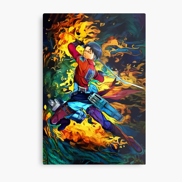 Colorful Levi Aura Metal Print