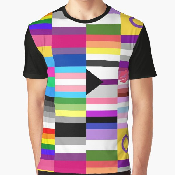 LGBT Pride Flags Collage Graphic T-Shirt