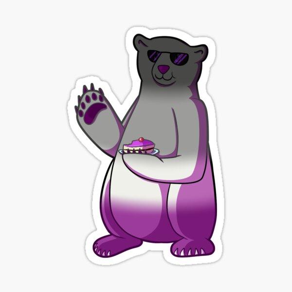 Ace Pride Flag Polar Bear [variant] Sticker