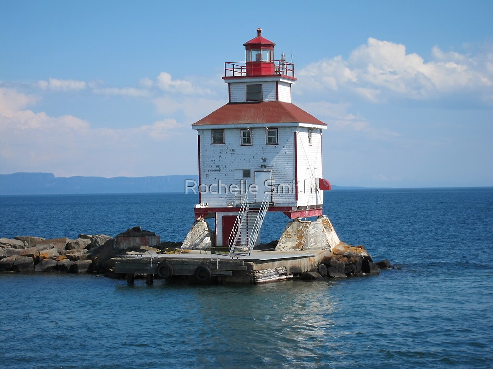 Quot Thunder Bay Lighthouse Quot By Rochelle Smith Redbubble