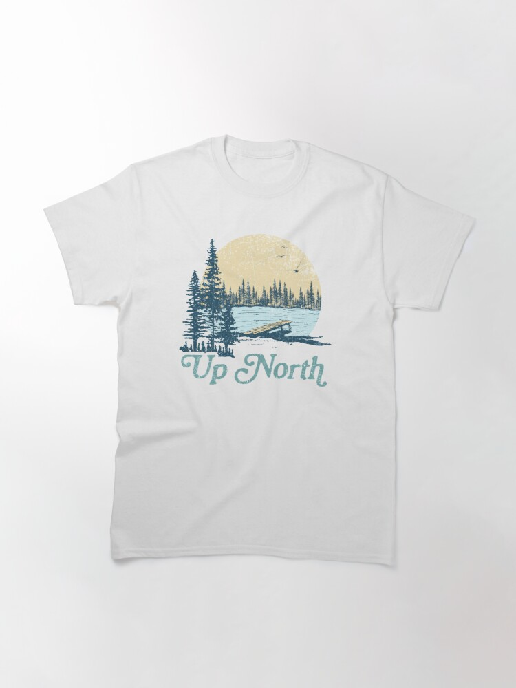 Alternate view of Vintage Up North Lake Classic T-Shirt