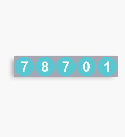 78701 Austin Zip Code Canvas Print