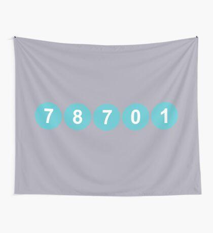 78701 Austin Zip Code Wall Tapestry