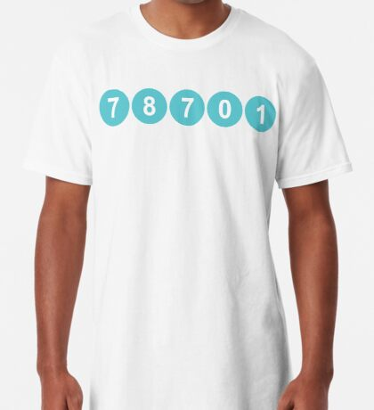 78701 Austin Zip Code Long T-Shirt
