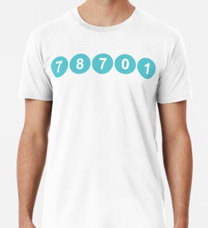 78701 Austin Zip Code Premium T-Shirt