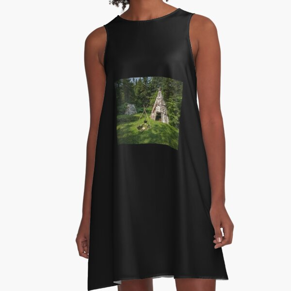 Micmac village, in the woods A-Line Dress