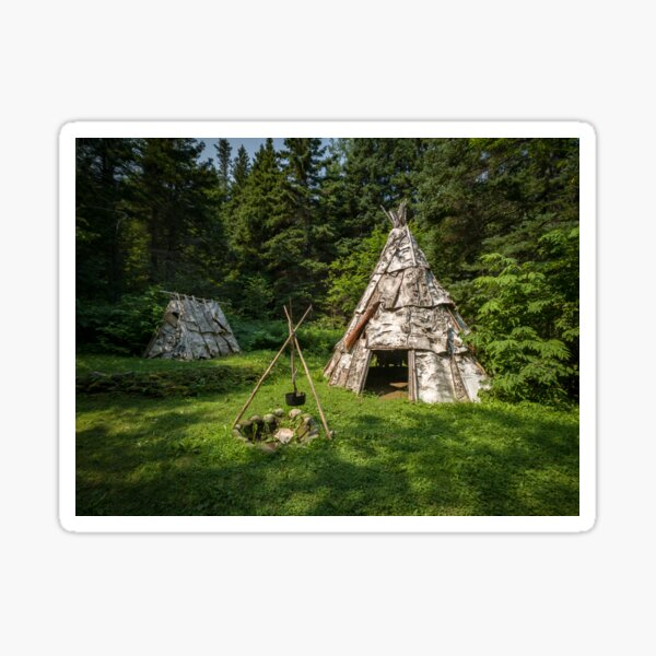 Micmac village, in the woods Sticker
