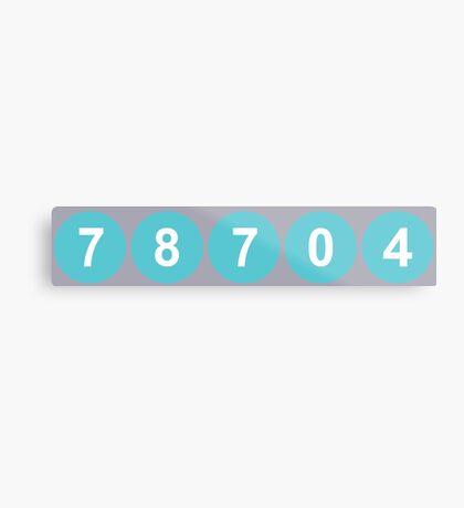 78704 Austin Zip Code Metal Print