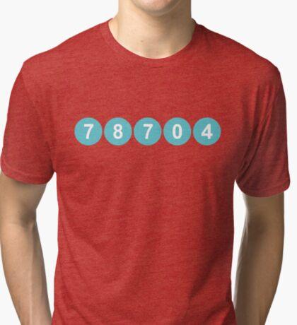 78704 Austin Zip Code Tri-blend T-Shirt