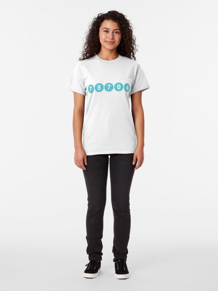 Alternate view of 78704 Austin Zip Code Classic T-Shirt