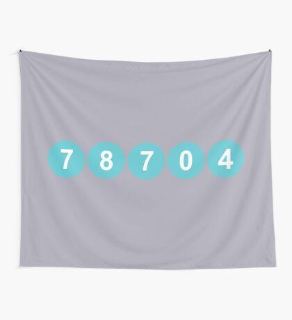 78704 Austin Zip Code Wall Tapestry