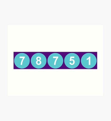 78751 Austin Zip Code Art Print