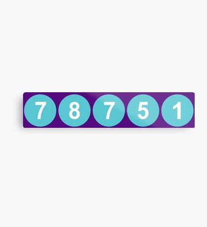 78751 Austin Zip Code Metal Print