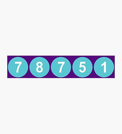 78751 Austin Zip Code Photographic Print
