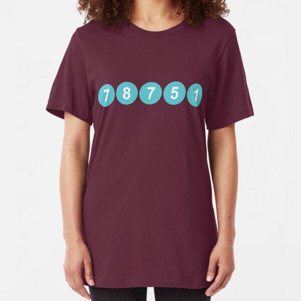 78751 Austin Zip Code Slim Fit T-Shirt