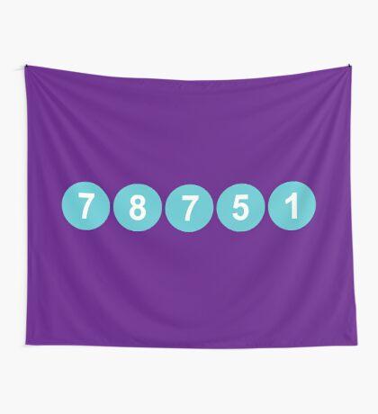 78751 Austin Zip Code Wall Tapestry