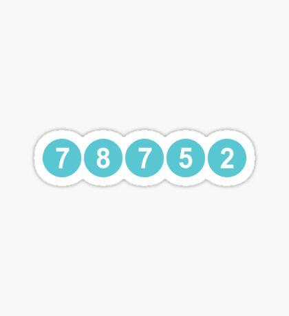 78752 Austin Zip Code Sticker