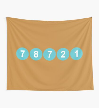 78721 Austin Zip Code Wall Tapestry