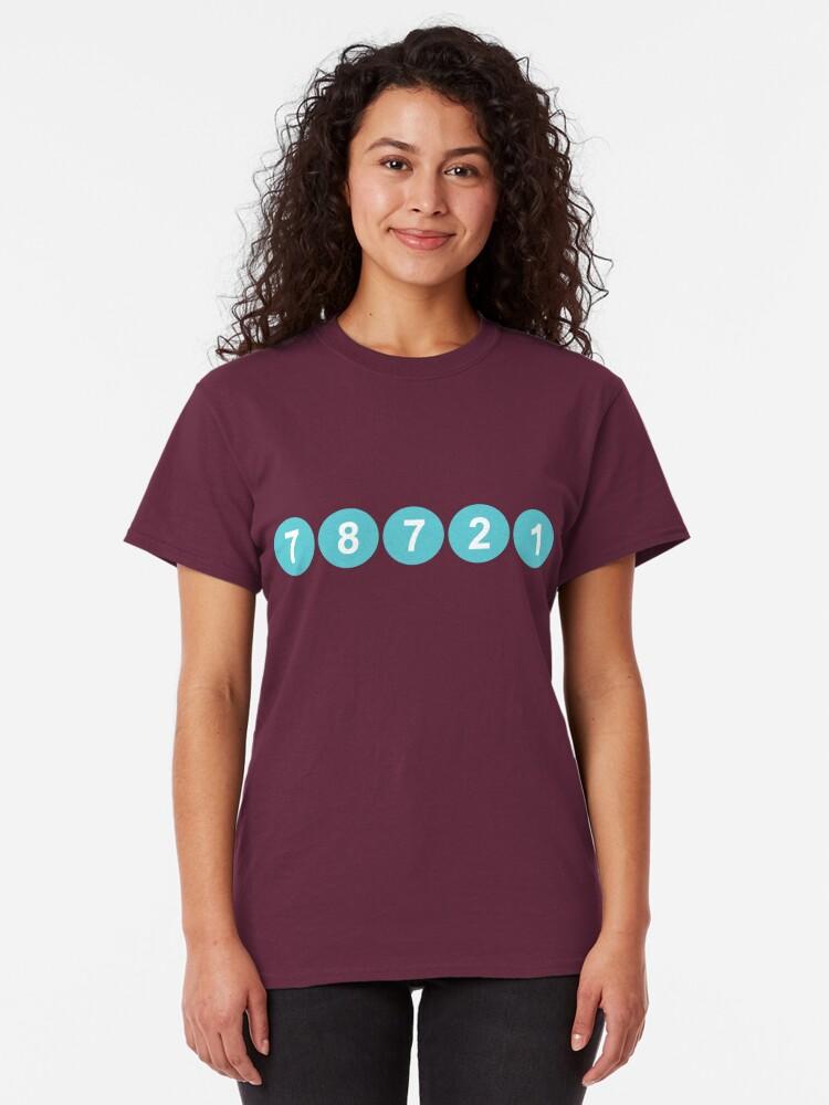 Alternate view of 78721 Austin Zip Code Classic T-Shirt