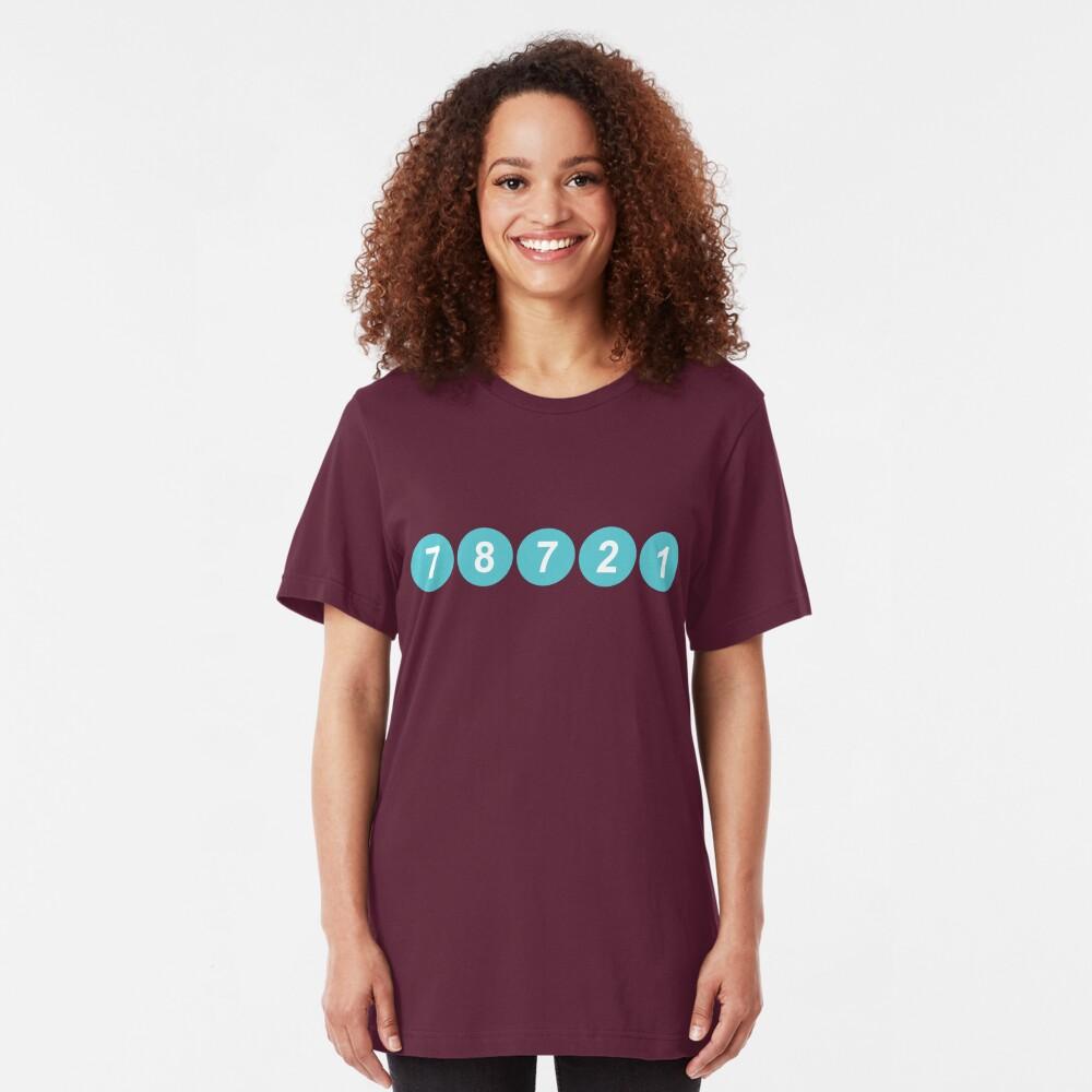 78721 Austin Zip Code Slim Fit T-Shirt