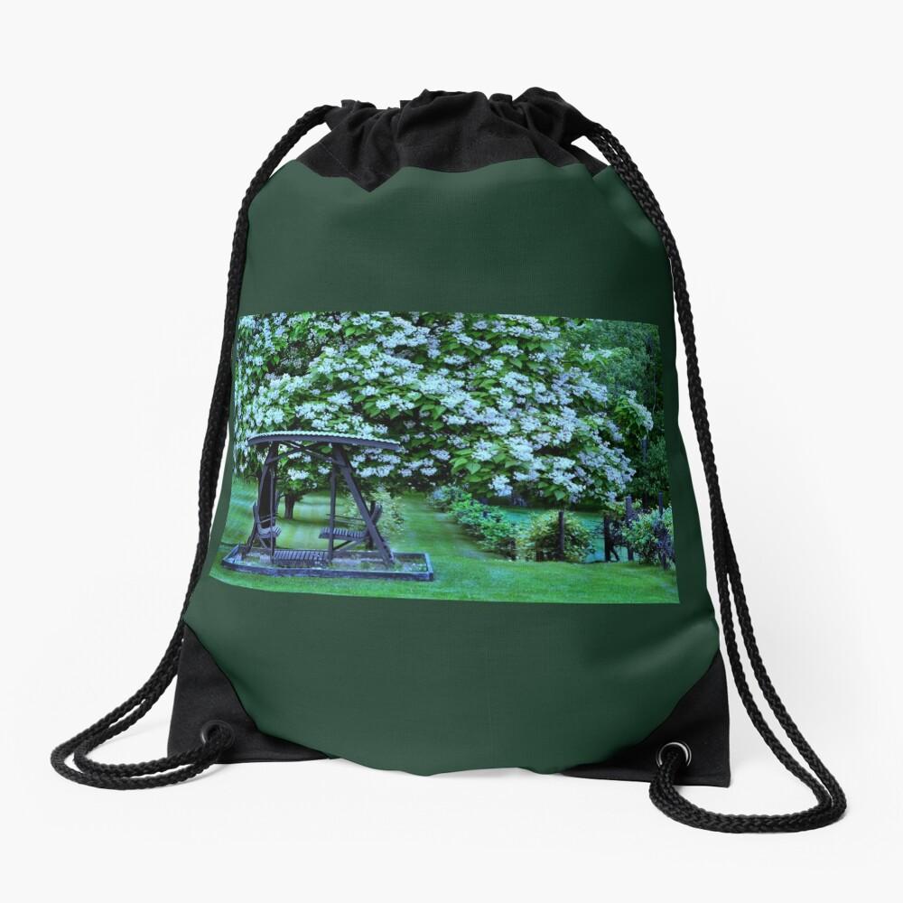 Catalpa-Baum in voller Blüte Turnbeutel