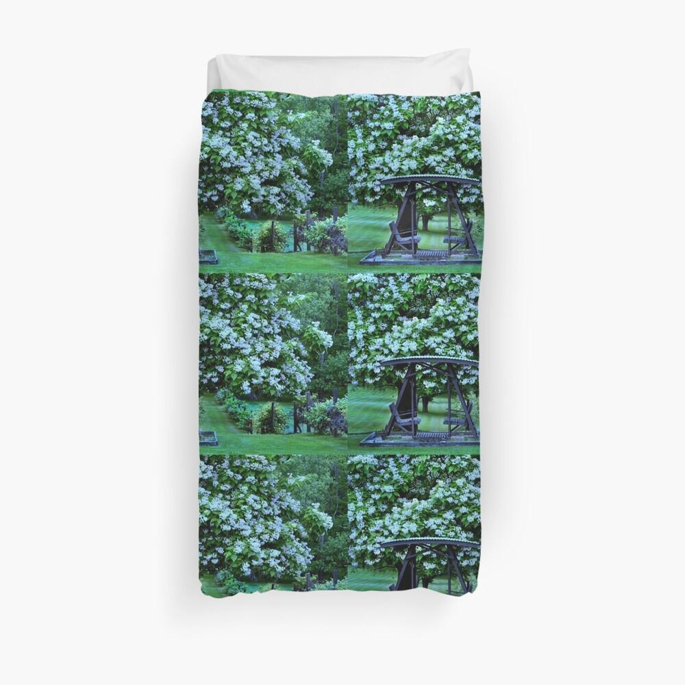 Catalpa-Baum in voller Blüte Bettbezug
