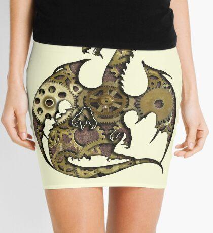 Clockwork Dragon Silhouette Mini Skirt
