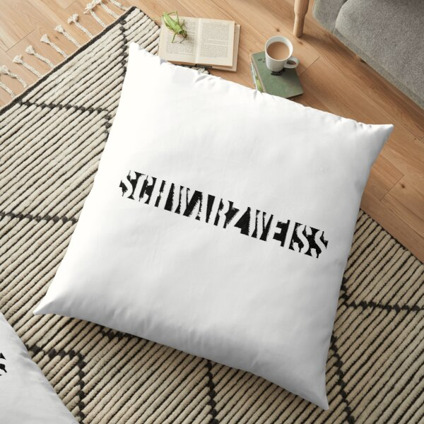 Black and White (White Edition) Floor Pillow