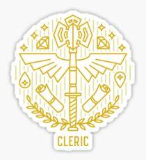 Pegatina Emblema de clérigo minimalista