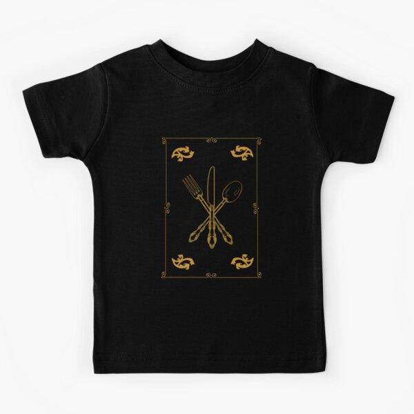 Just Add Magic Utensils Gold with Border Kids T-Shirt