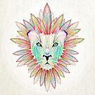 colorful lion by Manoou
