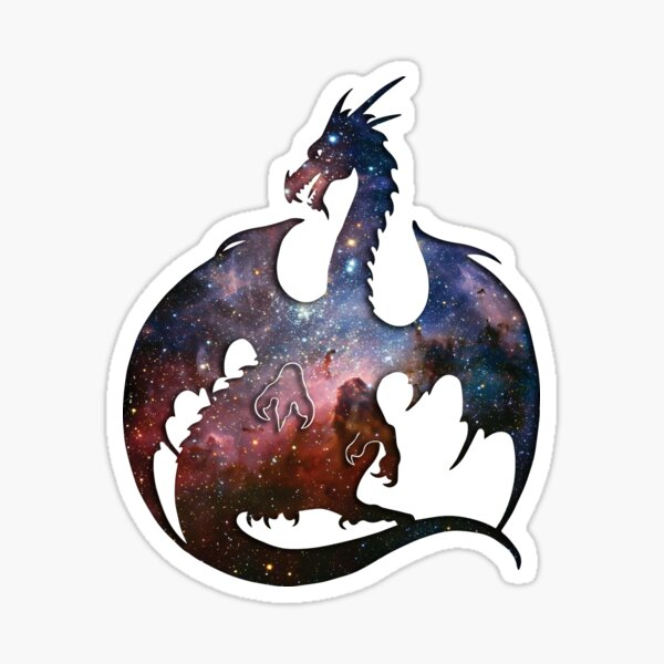 Deep Space Dragon Silhouette Sticker