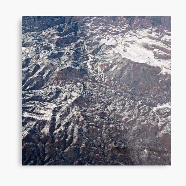 Desert After Snowfall Metal Print
