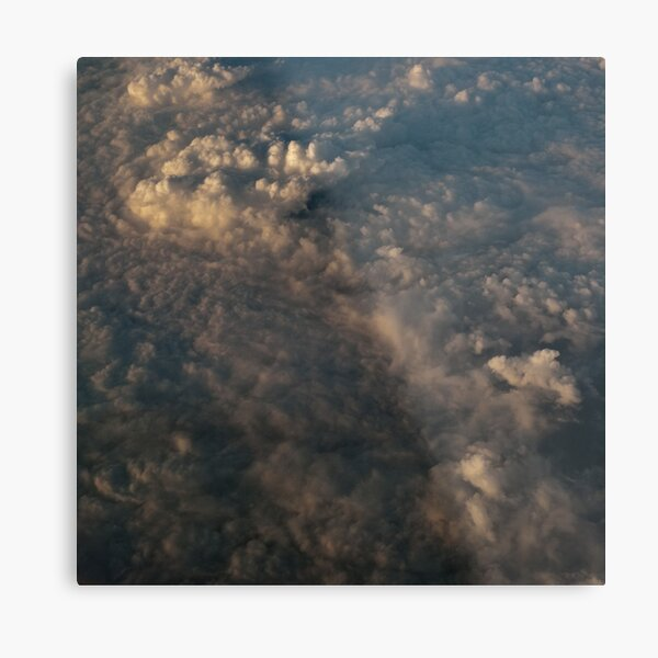 Late Evening Clouds Metal Print