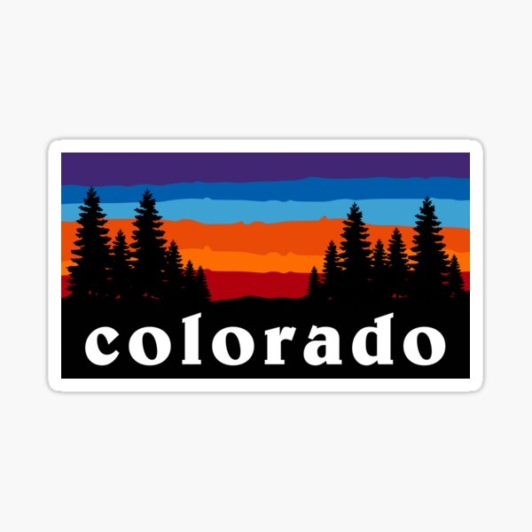 Colorado Forest Camping Crested Butte Ski Snowboard Hiking Mountain Sunset Gift Ideas Sticker