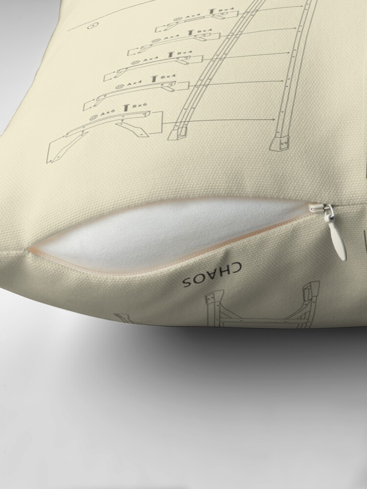 Alternate view of Instructions for Chaos Throw Pillow