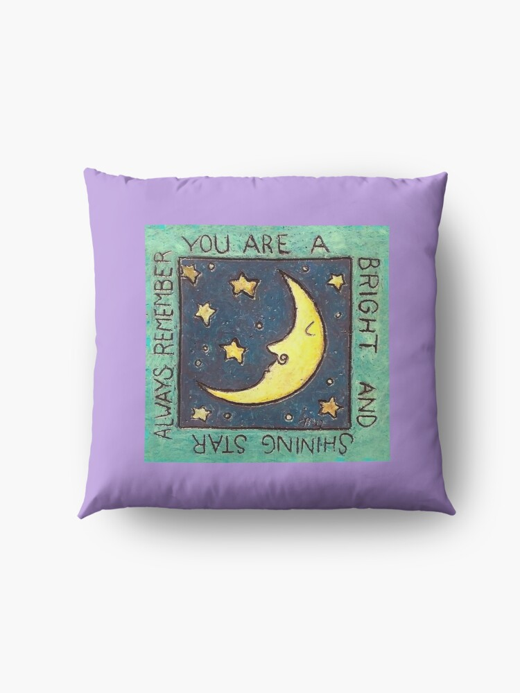 Alternate view of Always remember, you are a bright and shining star. Floor Pillow