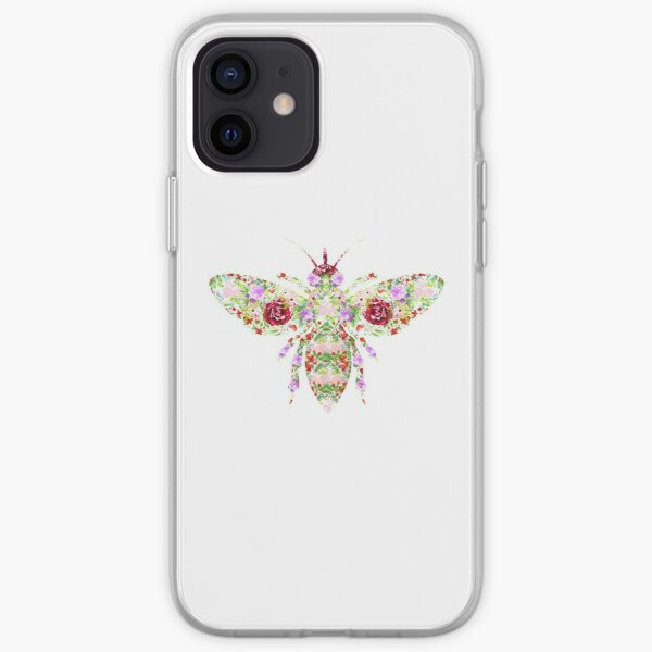 Floral Worker Bee iPhone Soft Case