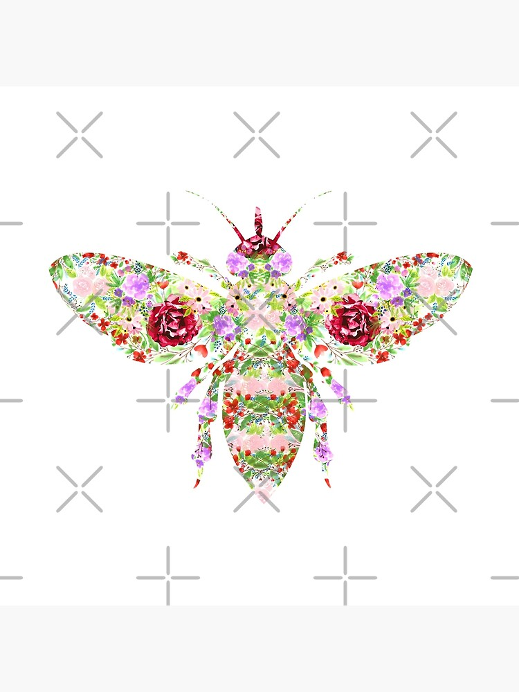 Floral Worker Bee by tribbledesign