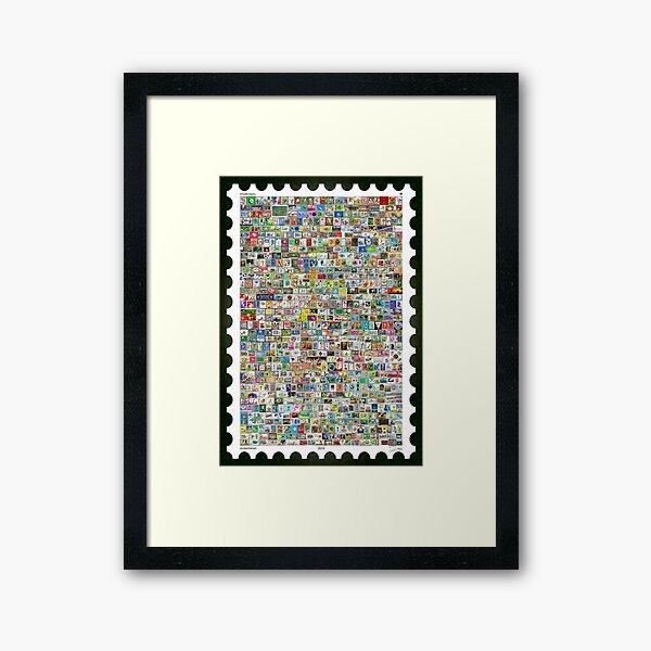The Soccer Stamp Framed Art Print