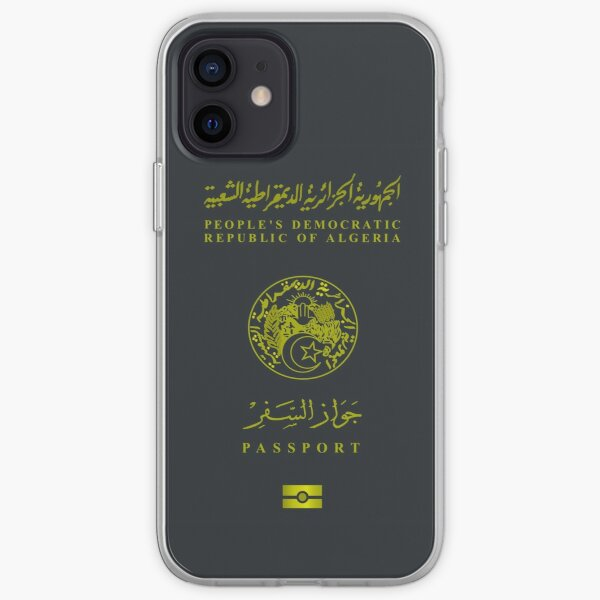 Passeport algérien - Design de vêtements Coque souple iPhone