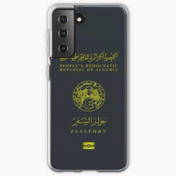 Passeport algérien - Design de vêtements Coque souple Samsung Galaxy