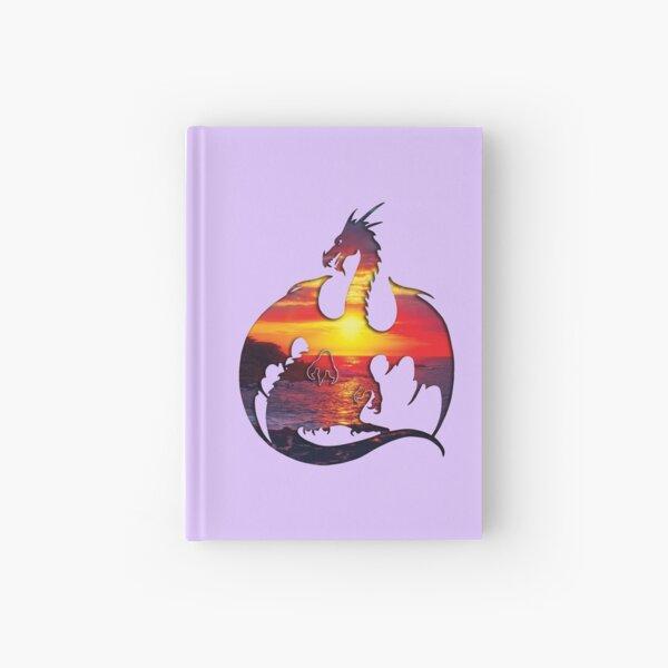 Sunset Dragon Silhouette Hardcover Journal