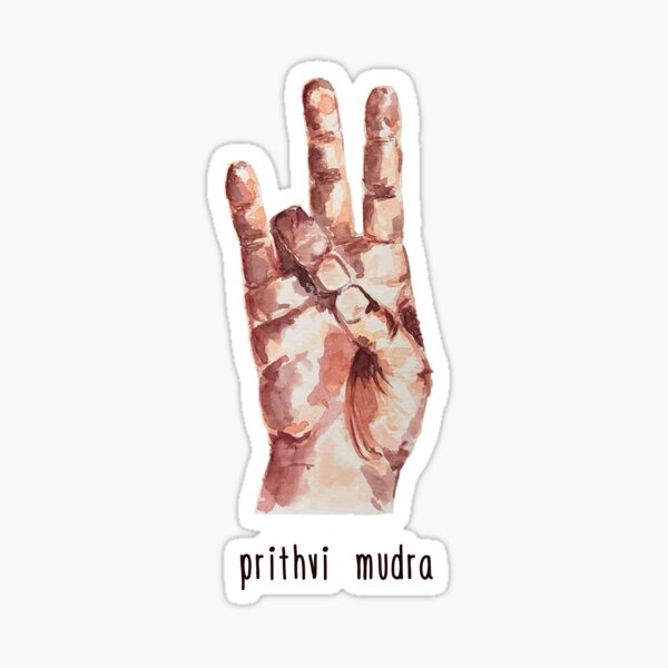 Prithvi Mudra with text Sticker