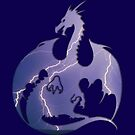 Storm Dragon Silhouette by ferinefire