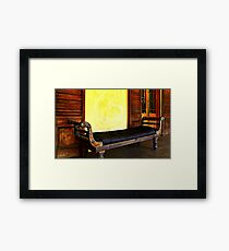 Old Leather Recliner Framed Print