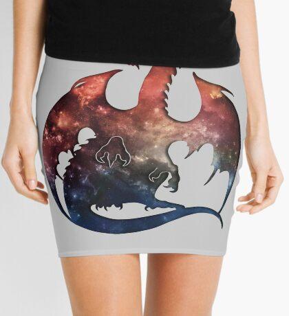 Galaxy Dragon Silhouette Mini Skirt