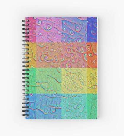 Deep Dreaming of a Color World Spiral Notebook